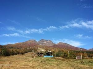 朝8時頃の妙高山